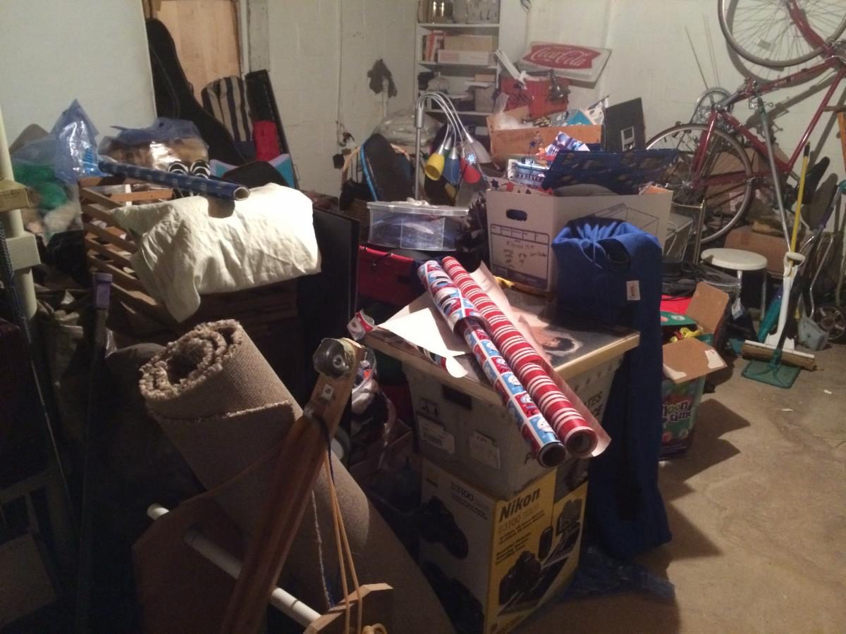 Leave nothing to your family, cluttered area