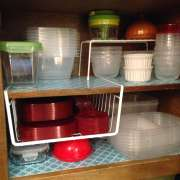 Organizing plastic containers