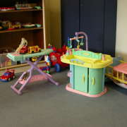organized kids playroom