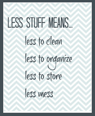 Declutter Challenge to have less stuff