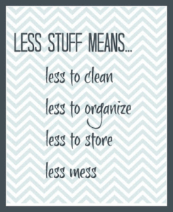 Zoom through your clutter, have less stuff